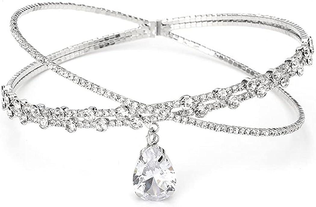 Soldering Jakawin Wedding Choker Necklace Portland Mall Crystal Rh Chokers Silver Bridal
