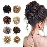 Fluffy Tousled Scrunchie Messy Hair Bun Extension With Elastic Rubber Band Wavy Wrap