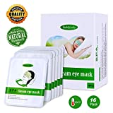 Eye Masks for Dark Circles and Puffiness Disposable Soothing Headache Relief Dry Eyes, Stress Relief Relief Eye Fatigue (Steam Eye Mask- 16Packs)