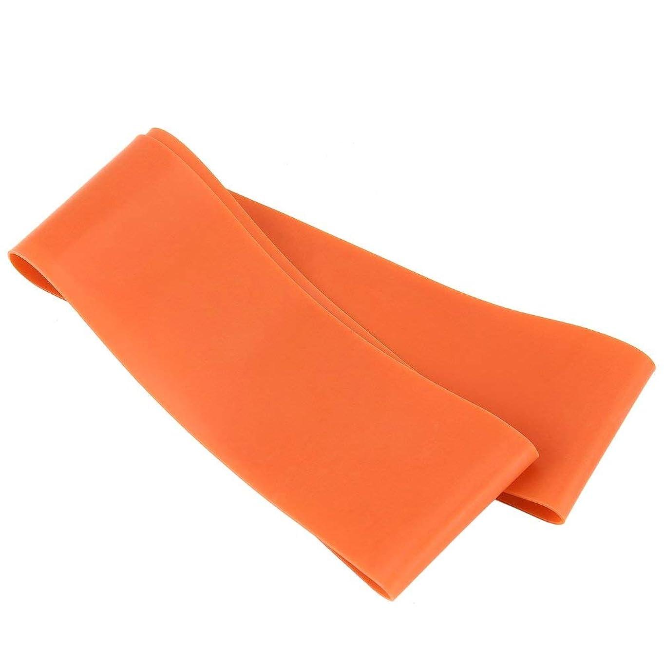 保険をかける必要条件着陸滑り止めの伸縮性のあるゴム製伸縮性がある伸縮性があるヨガベルトバンド引きロープの張力抵抗バンドループ強度のためのフィットネスヨガツール - オレンジ