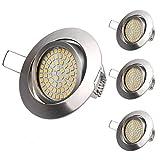 NetBoat Foco Empotrable Led 4x Lámpara LED de techo 3.5W 400LM equivalente a incandescente 40W blanco cálido 3000K AC 220V