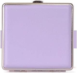 LBLMSB Cigarette Case, Stylish Metal PU Leather Cigarette Case, Hold 20 Cigarettes, The Smokers, Multi-Color Supply Latest Styles (Color : Purple)