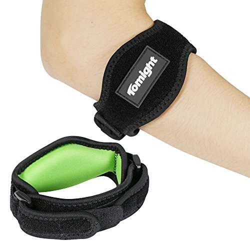 [2 Pack] Elbow Brace, Tomight Tennis Elbow Brace with Compression Pad for Both Men and Women, Green