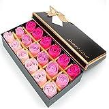 Itian 18pcs Rose Soap Blumen in Geschenk-Box, Faszinierende Duft von Rosen, Hübsche Form,...