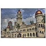 Dosow Gebäude Von Kuala Lumpur Malaysia Wandkunst Leinwand