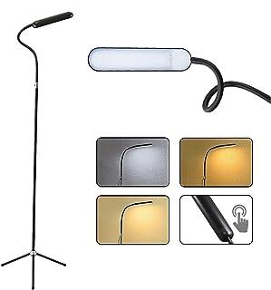 YEXATI 12W LED Lampe Sur Pied De Salon, 3 Températures De Couleur Et Niveaux De Gradation En Continu Lampadaire Trépied, L...