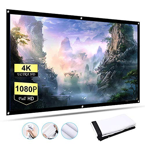 120-inch Projection Screen 16:9 HD Foldable Portable Projection Movies Screen with Wrinkle-Free Design for Home Theater Outdoor Indoor Support Double Sided Projection