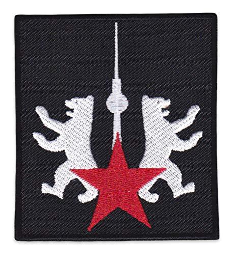 Berlin Roter Stern Berliner Bär Aufnäher Aufbügler Patch Techno Punk Alternative Wappen Flagge