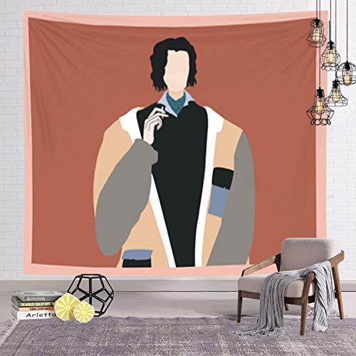 asdas Tapestry,Mandala Impression Art India 3D Printing Illustration Boy Polyester Ocean Decoration Wave Picnic Blanket Dormitory Living Room Bedroom Study Room Window Wall,Illustration Boy,200150Cm