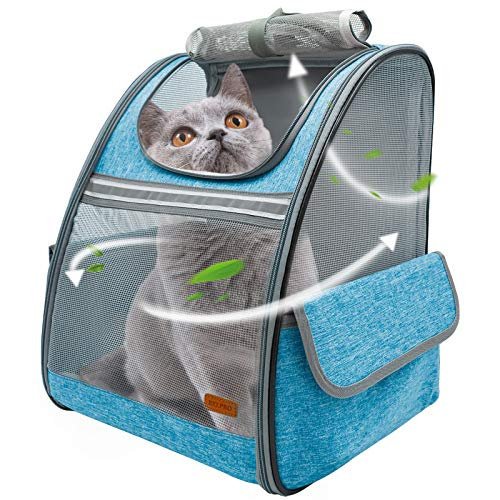 BELPRO Cat Backpack Carrier, Small Pet Dog...