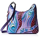 Fashion Shopping Anna by Anuschka Genuine Leather Hobo Shoulder Bag | Hand Painted Original Artwork