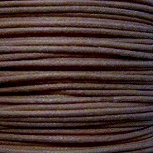 k2-accessories 30m 1mm in cotone cerato cordino–cioccolato–C0595/3mazzi