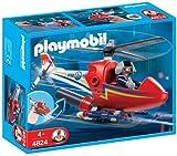 PLAYMOBIL - Helicóptero para prevención de Incendios (4824)