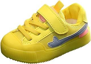 Trainers Sneaker Shoes for Kids, Korean Version of Luminous Shoes, Soft Sole Breathable Kindergarten Child Slip Shoes for Walking Trekking, FULLSUNNY