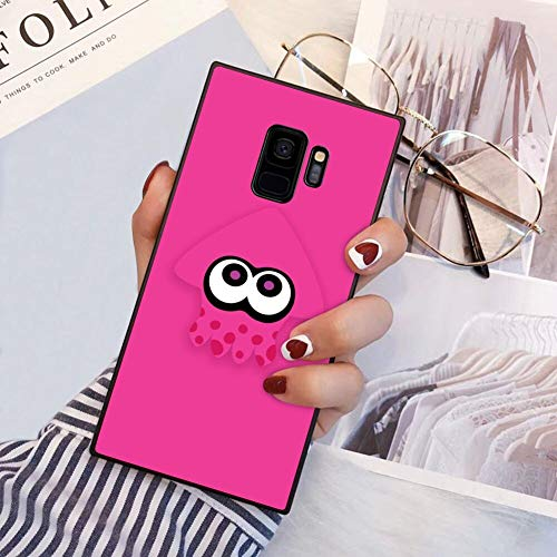 Squid Splatoon Pink Phone Case Fit for Samsung Galaxy S9 (2018) 5.8'