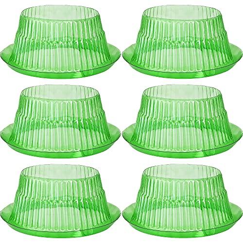 VDYXEW Schnecken-Schutz | Schneckenkragen für Ihre Salatpflanzen und Kohl | Schneckenabwehr ohne Chemie | Schneckenkragen aus Plastik (6 Stücke)