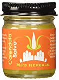 MJ's Herbals Calendula Salve | Skin Soothing Balm, Eczema Cream, Diaper Rash, Scar Treatment, Bug Bite Itch Relief | Organic Calendula, Propolis Beeswax (1 oz)