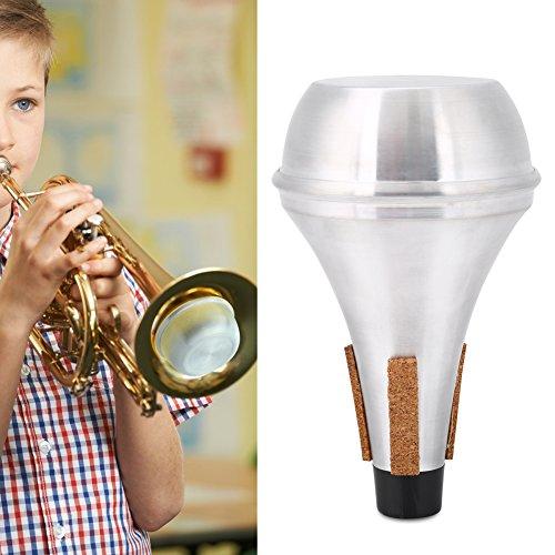 Trumpet Mute Aleación de Aluminio Tiras de Corcho Ruido de Trompeta Retirar para Practicar Trompeta y Calentar en Silencio