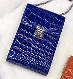 N-B Bolso de cuero genuino para teléfono móvil de las señoras de gama alta de cuero de cocodrilo para teléfono móvil bolso de mano de alto nivel de embrague