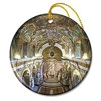 イタリアサンセヴェーロ大聖堂ナポリクリスマスオーナメントセラミックシート旅行お土産ギフト