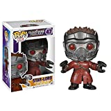 FUNKO - Figura POP Vinyl Bobble Head Star Lord Guardianes de la Galaxia Marvel...