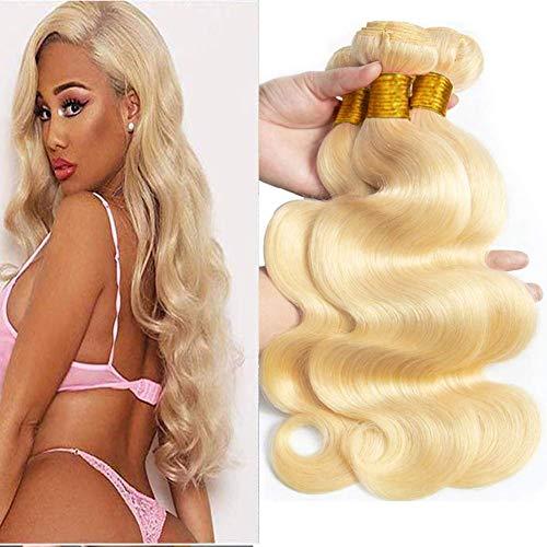 613 Bundles Human Hair Bundles 18 20 22 inch 9A Brazilian Hair Bundles Body Wave Hair Bundles 613 Hair Bundles Honey Blonde Unprocessed Virgin Remy Hair 3 Bundles Human Hair Extensions