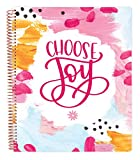 bloom daily planners All in One Ultimate Monthly & Weekly Undated Calendar Planner, Notebook, Sketch Book, Grid Pages, Coloring Book and More! 9' x 11' - Choose Joy