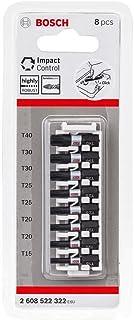 Bosch Professional 8 st. Skruv Bit Set Torx (Impact Control, T Bits, Längd 25 mm, Pick And Click)