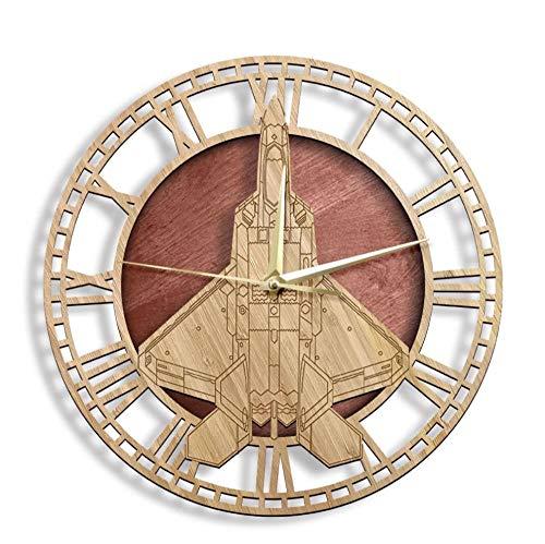 Raptor táctico de combate aviones Woo n reloj de pared rústico Home cor aviación D ign reloj de pared silencioso barrido reloj 30cm