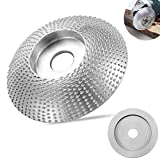 Xinmeng Muela de amoladora para madera, metal duro, disco de afilado para amoladora angular, puede utilizarse para madera, lijado, tallado (plata)