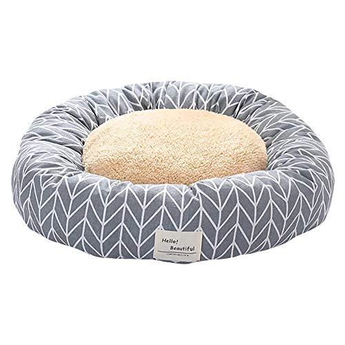 thematys Hunde-Bett mit wendbarem Kissen I Katzen-Bett I Kuschelbett Weich I Hundekissen I Hundekorb in 2 verschiedenen Größen und 8 Farben (M (50 x 20 cm), Style 1)