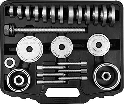 Yato Profi Radlager Abzieher Satz 31 TLG. für VW Audi Mercedes Benz BMW Opel, Radlager-Abzieher Ausdrücker Montage Demontage