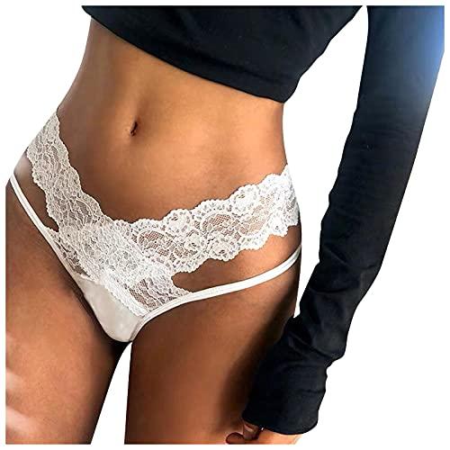 GBEN Tanga Damen String Hose Spitzen Spitzenkreu Dessous Sexy Slip Unterhose Erotische Wäsche Unterwäsche Schlüpfer Aushöhlen Panties Hipster Soft Panties String Fit Lingerie Underwear