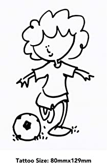 Large 'Football Girl' Temporary Tattoo (TO00033668)