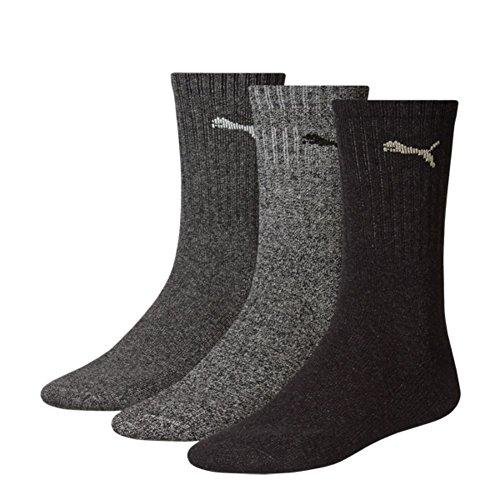 Puma Sportlifestyle Unisex Crew Socken. 6er Pack Socken für Sport & Freizeit, Charge 2015 (43/46, Antracite/Grey (207))