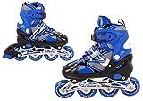 Nils Extreme inlineskates Kinder verstellbar Rollschuhe Schlittschuhe # 2in1 Inline Skates (Blau, S(31-34))