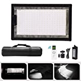 WELLMAKING 100W Rollable LED Video Light Panel Mat with 240 Bi-Color (3200-5600K) Light Beads, CRI97+,11000LM with 2.4G Remote Control, for Video Light for Studio, YouTube,Video Shooting Photography