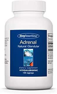 Allergy Research Group - Adrenal Glandular - Stress, Energy, Adrenal Support - 150 Vegicaps