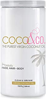 Ultra Pure Organic Virgin Coconut Oil for Hair, Skin, Body, Scalp and Hair Growth By COCO & CO.