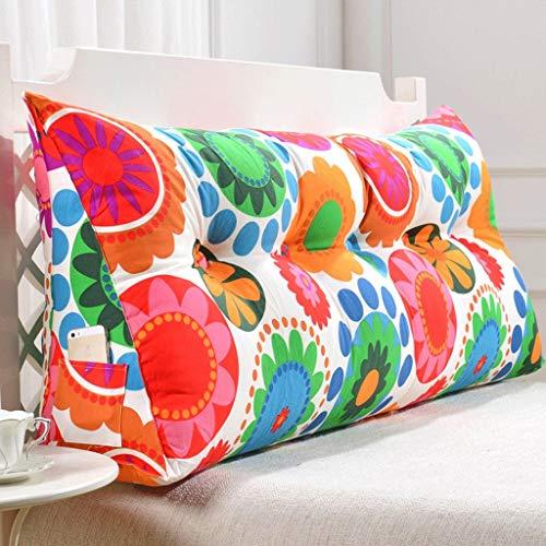 Tokyia Cojín lumbar para sofá de doble espalda, suave para cama, almohada lumbar (color: M, tamaño: 150 cm)