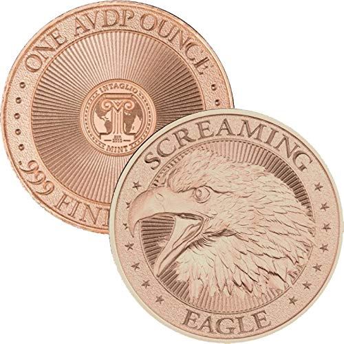 Jig Pro Shop Intaglio Mint Patriotic Militaria Series Come & Take It! 1 oz .999 Pure Copper BU Round/Challenge Coins (Screaming Eagle)