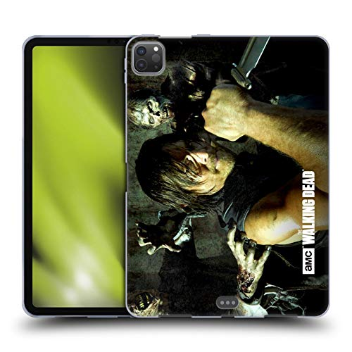 Head Case Designs Officially Licensed AMC The Walking Dead Daryl Knife Walkers and Characters Soft Gel Case Compatible with Apple iPad Pro 11 (2020)
