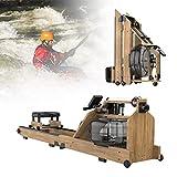 ZPCSAWA Prima de Agua de la Máquina de Remo con Banco Plegable Función Remo, Conjunto Suave Formación Doble Cara, Resistencia al Agua con Pantalla LCD, Real Wood