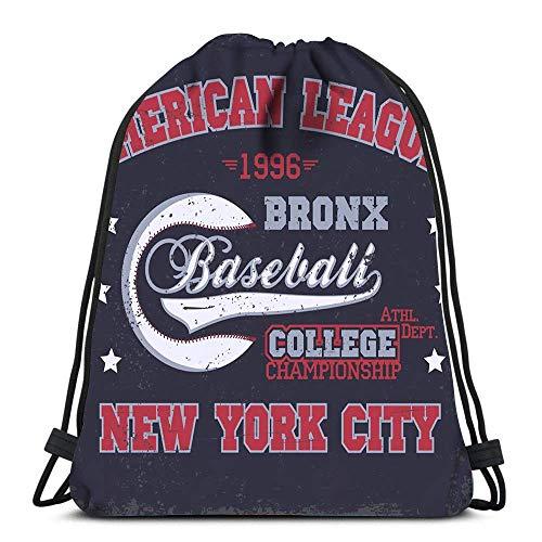 Lmtt Kordelzug Taschen Rucksack Baseball Mode Stempel New York Sport Athletic Reiserucksäcke Tote School Rucksack