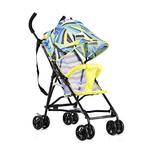 Carritos y sillas de Paseo Paraguas Cochecito de bebé Ligero Plegable Simple Portátil Bebé Fuera Ultra Ligero Puede Sentarse Carrito Transpirable de Verano Bebé Sillas de Paseo