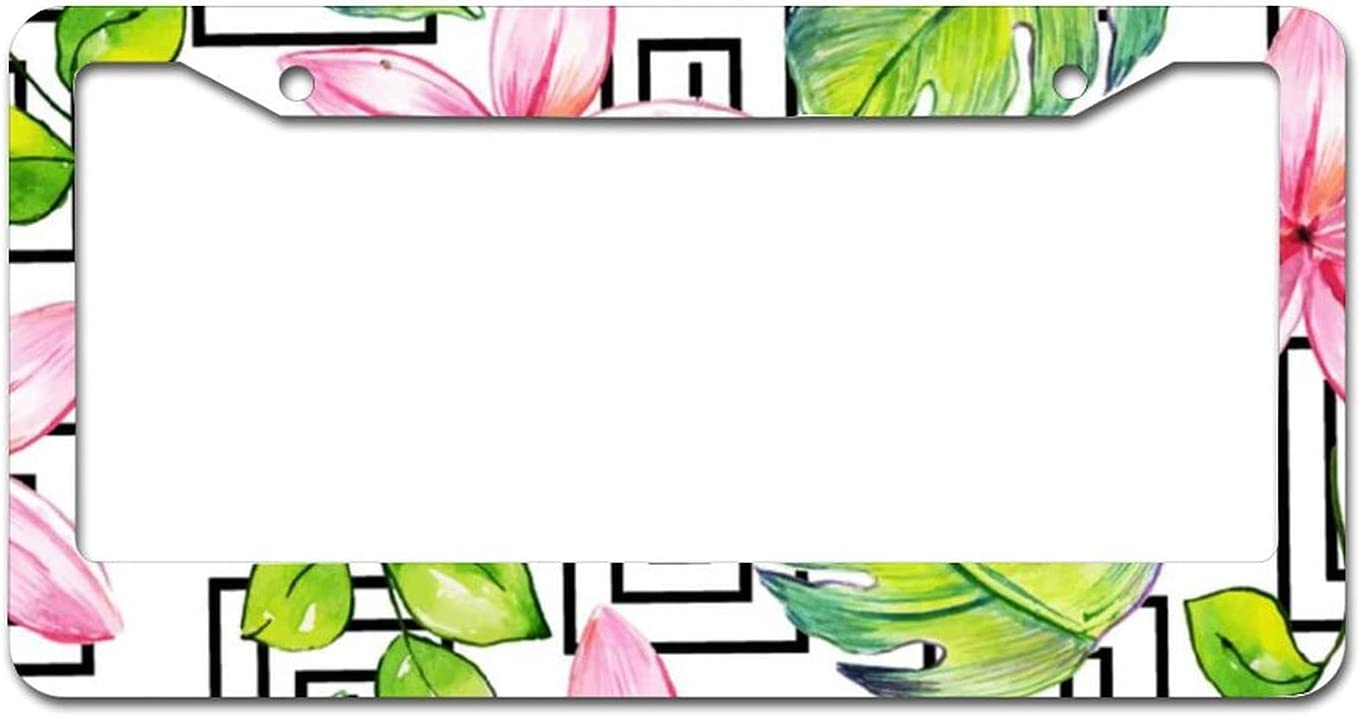 Watercolor Memphis Floral Background6 Plate Frame Ranking TOP15 Metal License Max 44% OFF