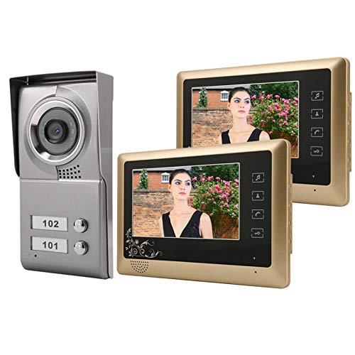 Videoportero Video Doorbell Video Doorbell Kit 7'Video Cableado Video Visual Visual Intercom Puerta De Entrada Sistema De Puerta Sistema De La Cámara De Seguridad Smart Sistema DE Seguridad DE LA AU