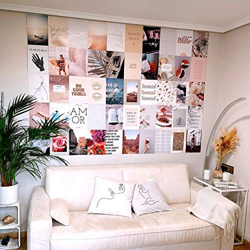 Flamingueo Photo Murale Décoration - 50 Photo Mural, Decoration Chambre, Decoration Murale, Photo, Aesthetic, Decoration Chambre Fille, Photo Aesthetic pour Chambre, Aesthetic Room Decor (Dream Land)