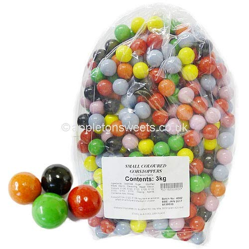 TIDMANS SMALL GOBSTOPPERS COLOURED - 3KG