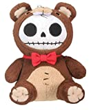 SUMMIT COLLECTION Furrybones Brown Bear Honeybear Wearing Red Bow Tie Small Plush Doll